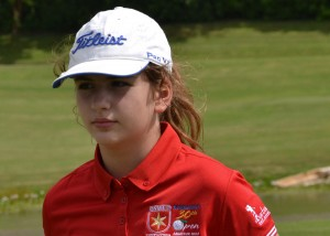 Twelve-year-old Mavi Vergos was second in the women's championship division.