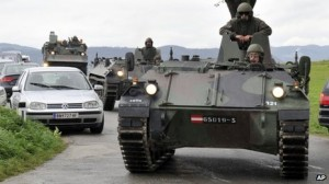 Armoured vehicles were deployed to the area.