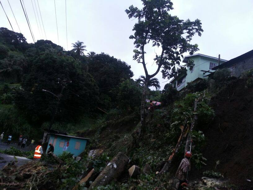 TheForestry Department commenced clean up in the early hours of Christmas morning. (Photo: NEMO)