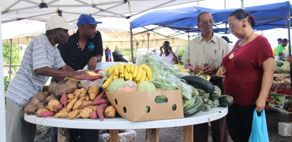 A wide range of produce was available at the farmers' market.