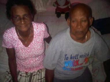 Nolisha's grandmother Horner Nanton and grandfather Walsey Nanton.