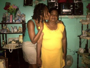 Nolisha and her mother in happier times.