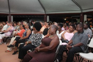 The audience was captivated.