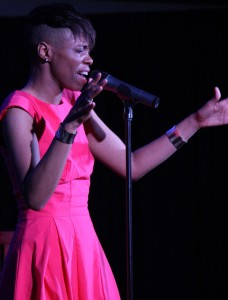 Kellylee Evans showcased a lot of energy during her set.