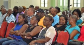 A section of those attending the BWU's half yearly review conference at Solidarity House earlier today.