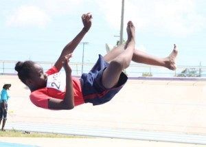 Ebony Went of Charles F Broome Primary broke the open girls' high jump record clearing 1.35 to replace the previous 1.32.