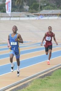 Nathan Fergusson of Combermere anchoring his team to a win at last week's Relay Fair.