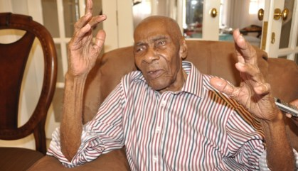 George Alleyne has 100 reasons to be thankful today. Chief among these is his achievement of a century. The father of eight with 35 grandchildren and 49 great-grands is proud to have achieved the milestone, and says he owes it all to his Almighty God. And, his advice to all is that anything is possible with God on your side.