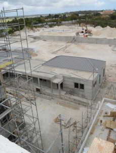 """The new Barbados Water Authority home is """"50 per cent completed""""."""