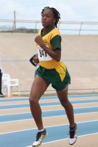 Dedra Deane- Mason of Parkinson Memorial won the under-13 girls' 800m.