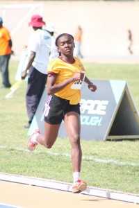 Elizabeth Williams of Grantley Adams won the under-17 girls' 800m to advance to the semi-finals.