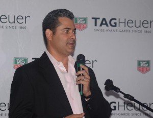Roberto Fuentes, Tag Heuer's sales manager for the Caribbean.