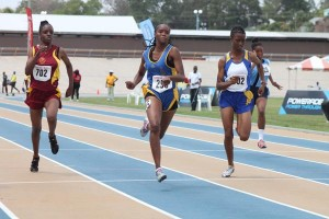 Shaniqua Quintyne of Combermere won her under-20 girls' 100m heat to book her place in the semifinals.
