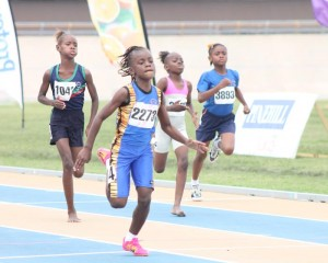 Skye Spencer- Layne was a comfortable winner in the 150M for West Terrace Primary.