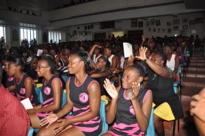 The Combermere School Hall was packed for the opening ceremony.