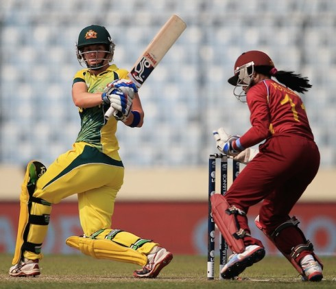 Elyse Villani gave defending champions Australia a positive start. (Photo courtesy Crickinfo)