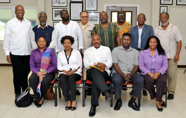 The CARICOM Reparations Commission when it met at the UWI Cave Hill Campus in February.