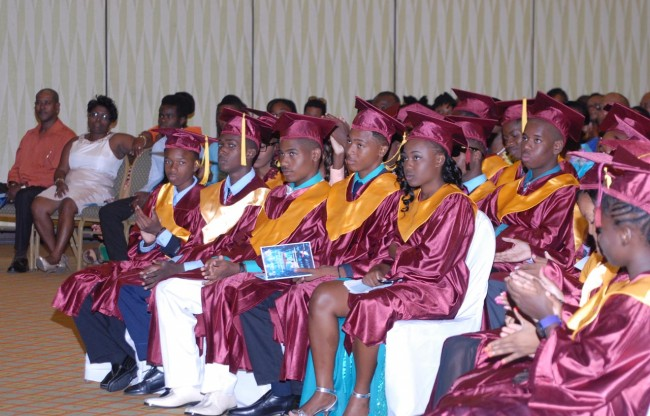 Some of the 2014 graduating class of the Seventh-Day Adventist Secondary School.