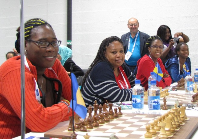 Barbados Women - (l-r) Katrina Blackman, Donna Murray,  Sheena Ramsay, Lydia Nurse.