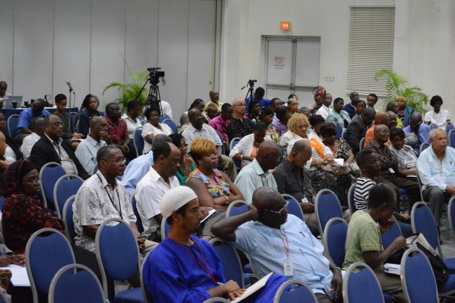 There was a large turnout of delegates on the final day of the Diaspora conference.