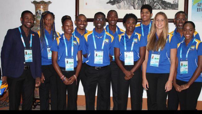 The Barbados team heading to China.
