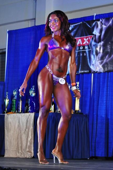 Domini Alleyne was the outstanding bikini body.