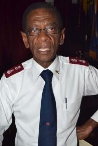 Army's Public Relations Officer, Major Denzil Walcott