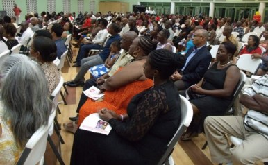 Part of the audience at the opening ceremony of the BLP's annual conference last night.