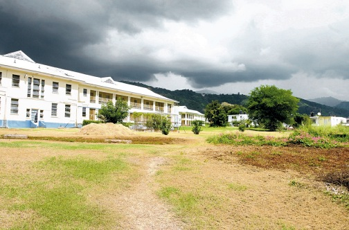 A section of the Chest Hospital in St Andrew.