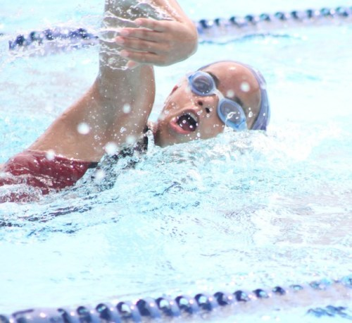 Amanda Haywood of Yellow House won the girls' 50m freestyle comfortably. (Pictures by Marissa Lindsay)