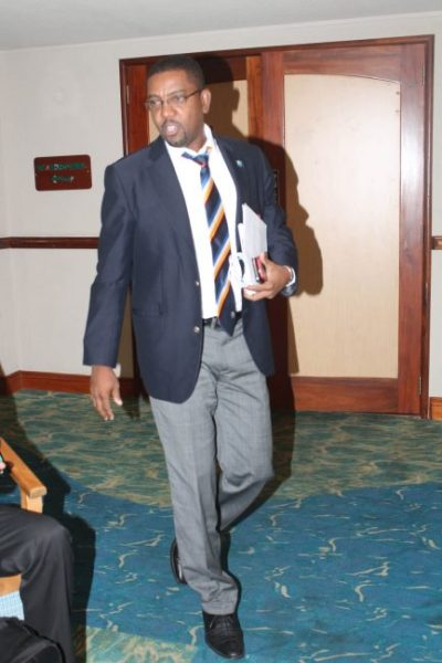 WICB president Dave Cameron at Accra Beach Hotel today.  (Picture by Marissa Lindsay)