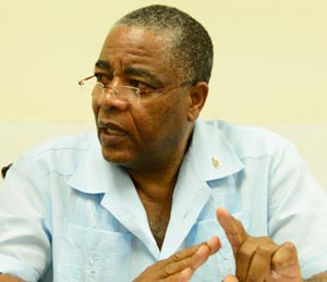 General Secretary of the Unity Workers Union Caswell Franklyn.