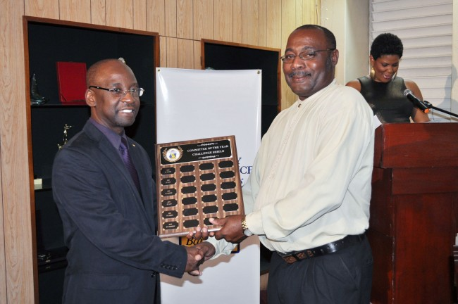 Nigel Williams of the St Andrew Community Independence Group receives award.