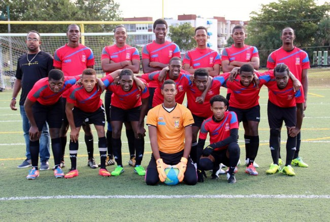 The BSA's Under-19 squad which recently toured Florida.