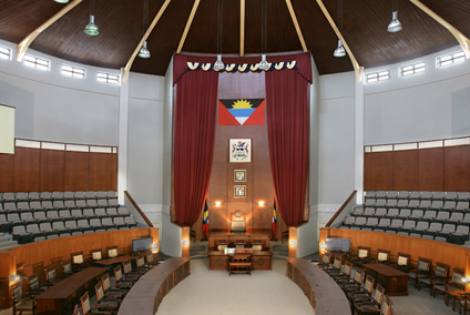 Parliament walkout by Antigua government.