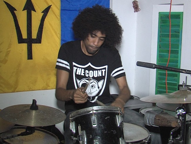 René on the drums.