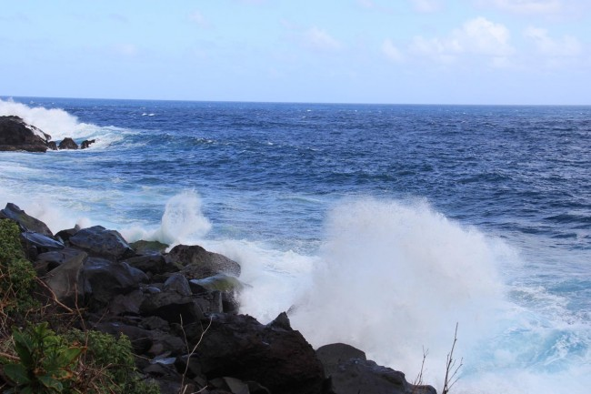 The rough seas at Rock Gutter.