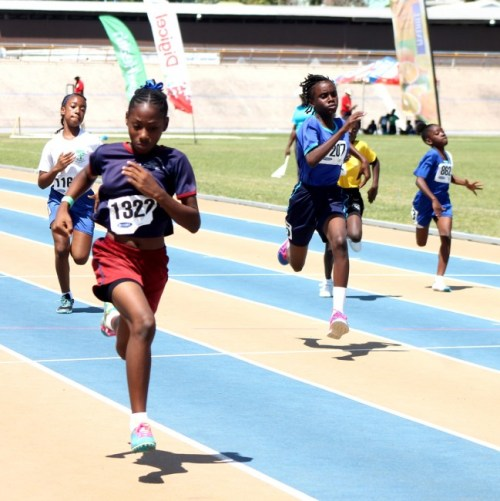 Victrix ludorum St Stephen's Primary's Kiara Payne slammed the field in her heat of the 100m.