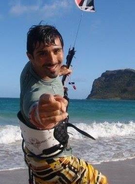Sahab Jamshidi  kite-surfing.