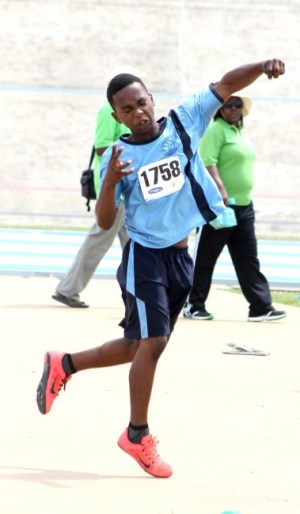 Malachi Harris of Deacons won the under-13 boys cricket ball throw with a massive 63.93m distance.