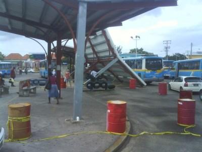 Princess Alice Bus Terminal, Bridgetown following hurricane Tomas' passing.