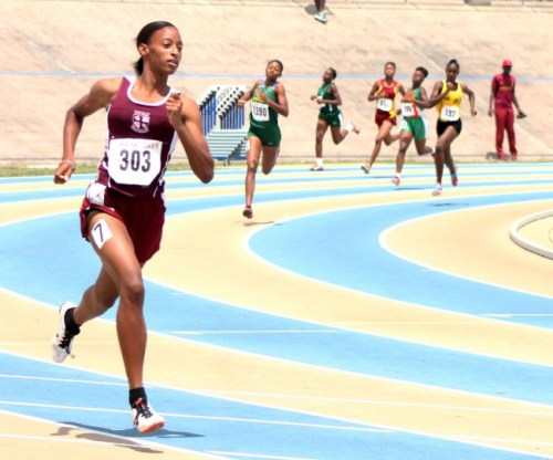 Sada Williams of Colerdige and Parry was a class above the rest in the under-20 girls 400m.