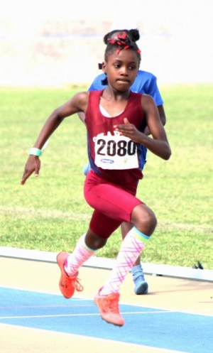 Samiya Dell dismissed the field to win the under-11 girls 100m.