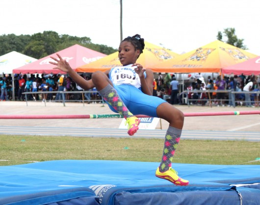 Sikia Best of Bay Primary won the final of the girls open high jump at a height of 1.38m.