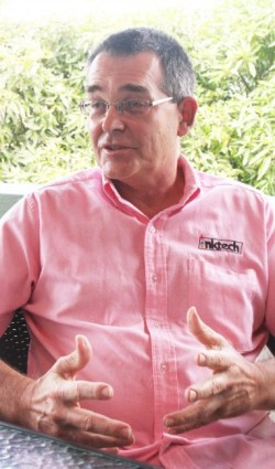 Managing director of Inktech, Tom Fountain, is passionate about the environment.
