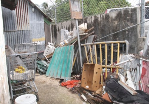 A tour of the River terminal revealed piles of rubbish, as well as drainage and other problems, including lack of running water and bathroom facilities.