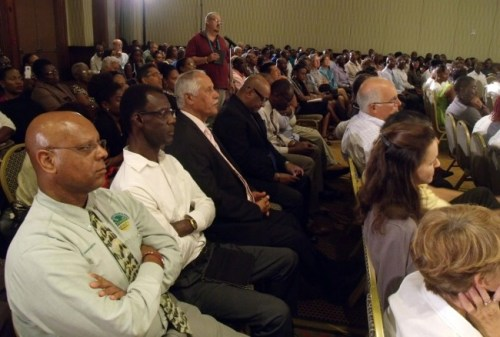 A section of the audience at the 40th anniversary function of the Institute of Chartered Accountants  of Barbados at The Hilton last night.