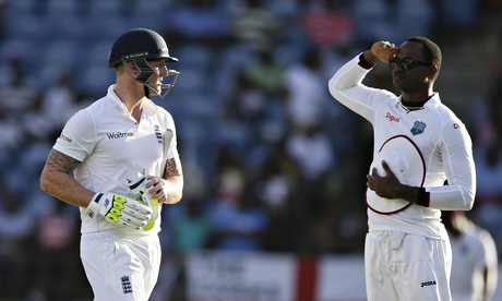 Ben Stokes is given a 'military' send-off by Marlon Samuels.
