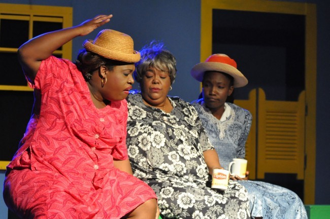Laff-It-Off actors Janine  White and Peta Alleyne.