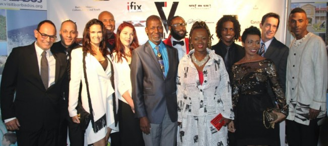 Cast of the Bajan movie Vigilante: The Crossing.